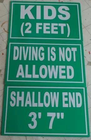 Swimming Pool Signage