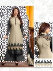 Cotton Embroidered Designer Suit
