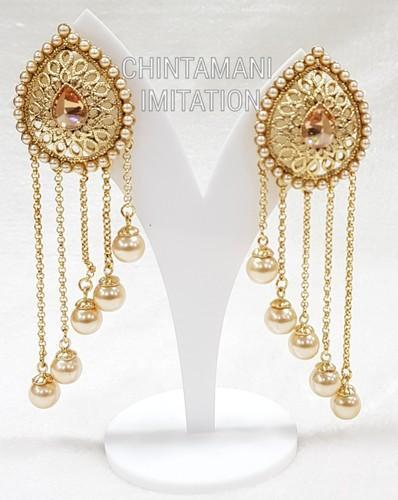 3b3b88382a1 Anniversary And Party Golden Fashion Earrings