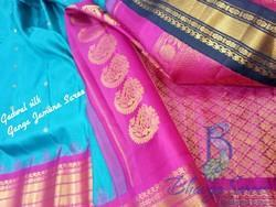 Festive Wear Garwhal Silk Ganga Jamuna Border Saree