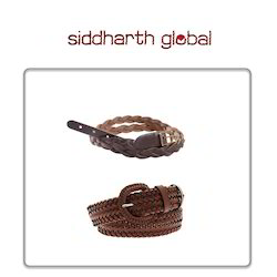 Women Braided Leather Belt
