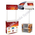 Plastic Promotion Counter With Umbrella