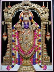 Tirupati Balaji Gold Painting