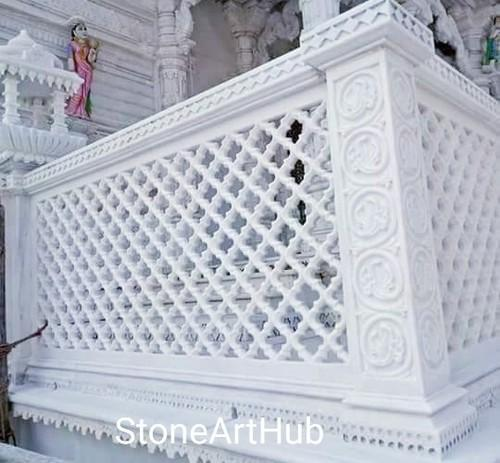 White Marble Stone Grill
