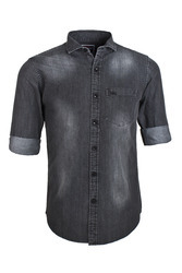 Brown Trendy Denim Shirt