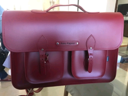Pin Leather Office Bag