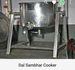 A1 Kitchen Silver Dal Sambhar Cooker, For Restaurant, Capacity: 10 Liters