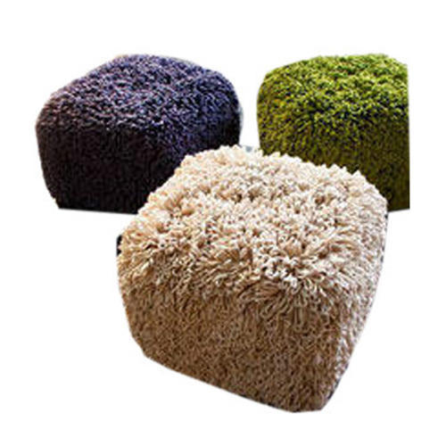 Cube Shaggy Pouf At Rs 850 Piece
