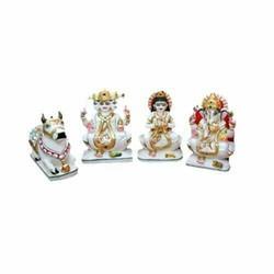 White Marble Shiv Parivar Statues
