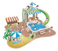 Pool Party Paper Model (Book Printing)