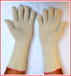 SS & WW Make Long Cotton Knitted Safety Gloves