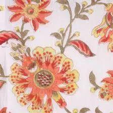 Hand Block Floral Print Fabric