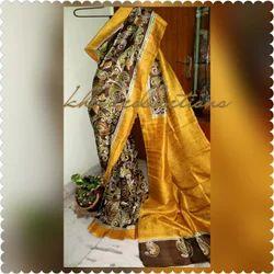 Silk Hand Batik Designer Saree