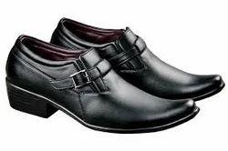 woodland black formal shoes
