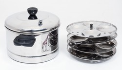 Tallboy Stainless Steel 4 Plate Idli Cooker For Home