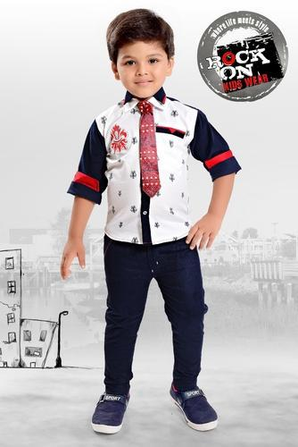 Boys Shirt And Tie Party Wear Kids Suit