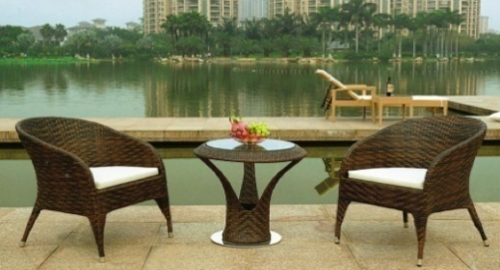 Outkarft Luxury Outdoor Wicker Furniture Set