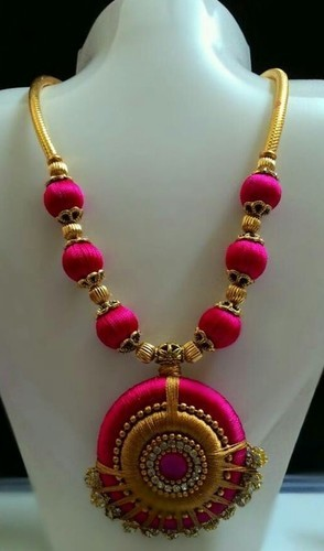 pink jewellery d necklace s product thread set designer page silk quilling charming