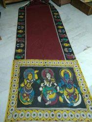 Multiple Kalamkari Hand Paints Kalamkari Saree, Length (metre): 6. 50Cm