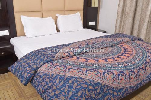 Trade Star Exports Mandala Elephant Duvet Cover Queen Quilt Size 90