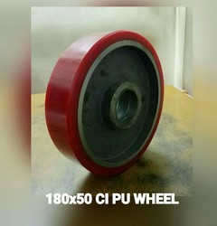 180x50 mm Cast Iron PU Trolley Wheel