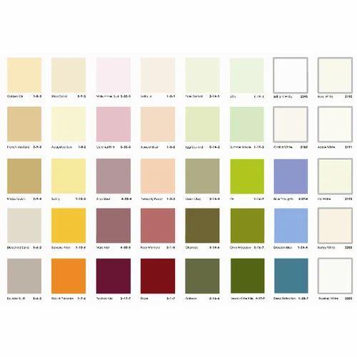 Distemper shade card printed distemper shade card - Ace exterior emulsion shade cards ...
