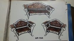 Wrought Iron Wooden Sofa Chair
