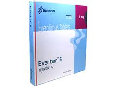 Everolimus 5 mg Evertor Tablets