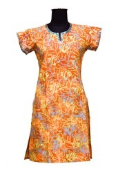 Girls Block Printed Kurti