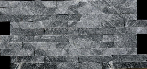 Black Grey Marble Stack Stone Tiles