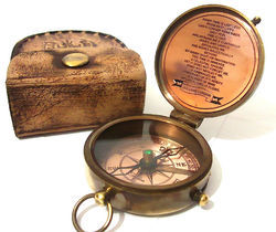 Beautiful Victorian Pocket Compass/ Compass With Pouch