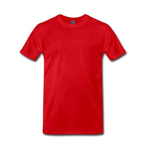 Red Casual Round Neck T-Shirt, Size: Small