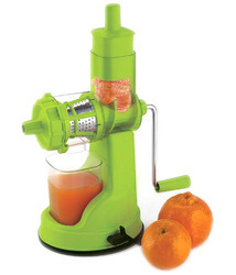 Green Color Plastic Hand Juicer