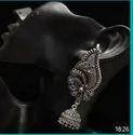 Jewels Dunia Brass German Silver Oxidized Bluetooth Earring