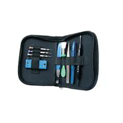 Watch Battery Changing Kit  (with Leather Case - 9 Pcs.)