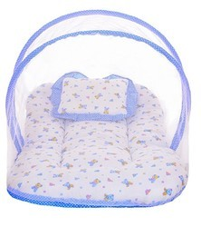 Pink And Blue Orange 85%Polyster And 15%Cotton Net Bed For Born Babies, Size: S And L