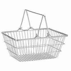 Stainless Steel Rectangular SS Shopping Basket, 2 Kg, Size: 50 X 35 X 25.5 Cm