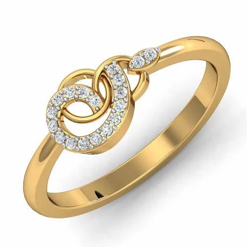 14k Hallmark Gold Diamonds Ring at Rs piece