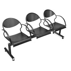 Metal Three Seater Reception Chairs