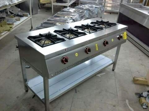 4 Burner Ractangle Cooking Range (indian)