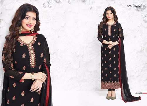 3924d2cde5 Cotton Black Kashmiri Work Designer Heavy Embroidery Salwar Suit, Rs ...