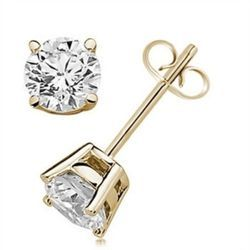 18K Yellow Gold Diamond Studs