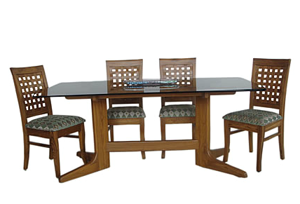Teak Wood Dining Table Glass Top, Glass Dining Room Table ...