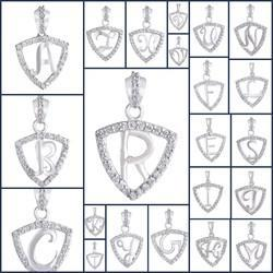 925 Silver A-z Triangle Alphabet Pendant