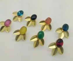 Color Stone Designer Earring
