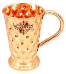 Drinkware Copper Big Diamond Design Mug - 450 ML, 1, Size: 5.5 X 3.5 (inches)