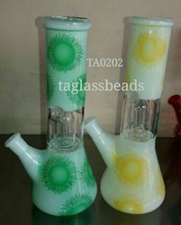 Single Percolator Glass Ice Bong