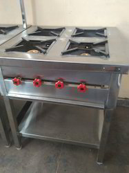 Stainless Steel Four Burner Cooking Range