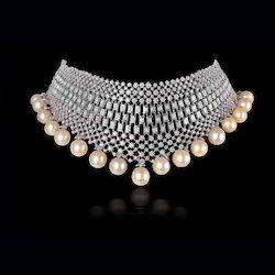 Diamond Necklace Set In Delhi हीरे का हार का सेट दिल्ली