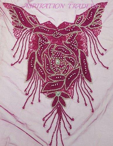 bec17e6c60c04d 1.5 YARD Designer Net Lace Pearl Beaded Blouse, Rs 1500 /piece | ID ...